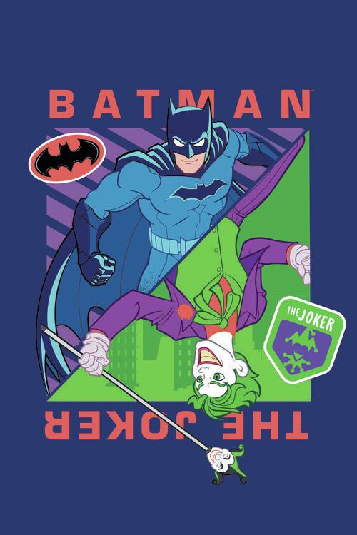 Murais de parede Batman vs Joker