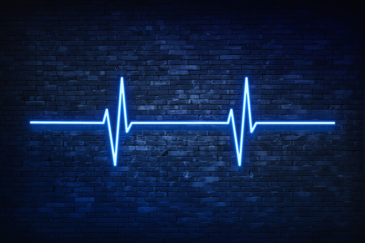 Murais de parede Blue Lifeline