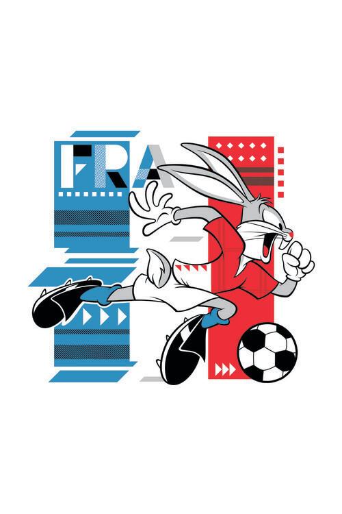 Murais de parede Bunny and football