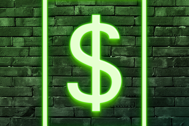 Murais de parede Dollars