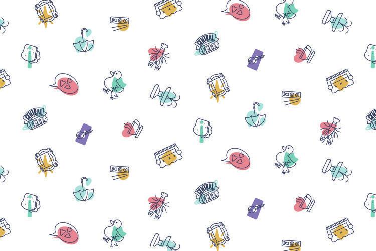 Murais de parede Friends - Icons
