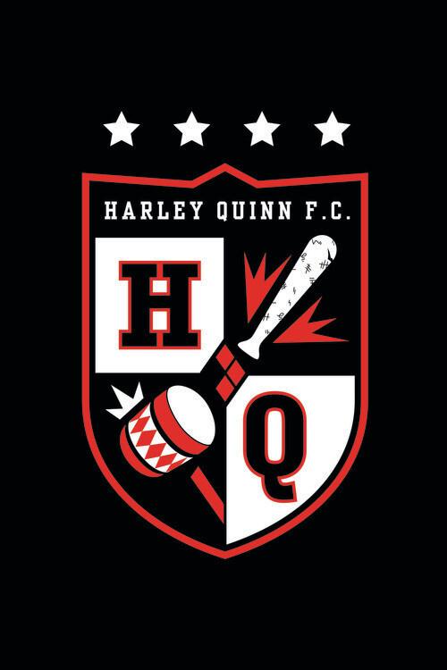 Murais de parede Harley Quinn - Baseball