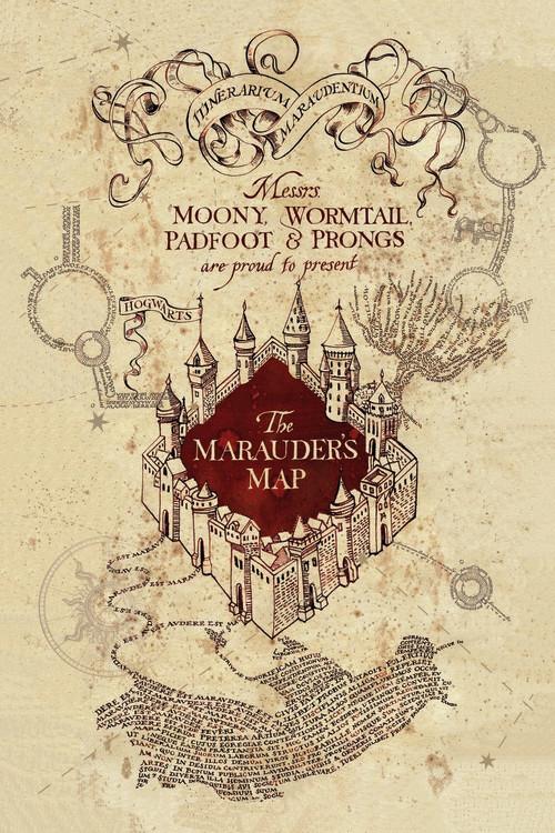 Murais de parede Harry Potter - Marauder's Map