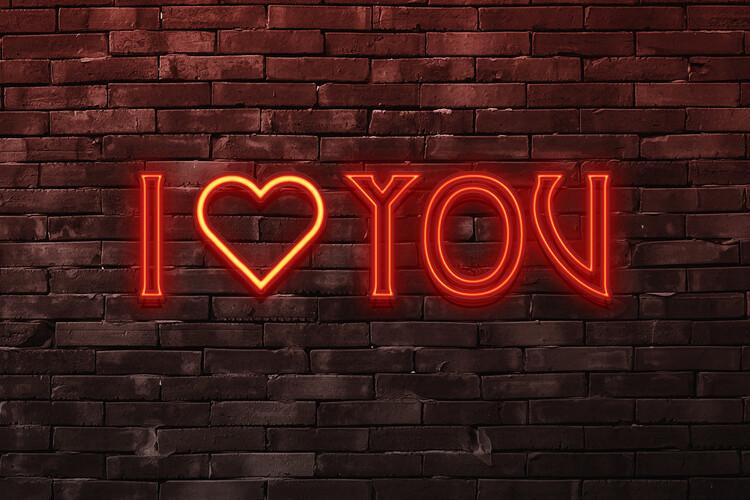 Murais de parede I love you