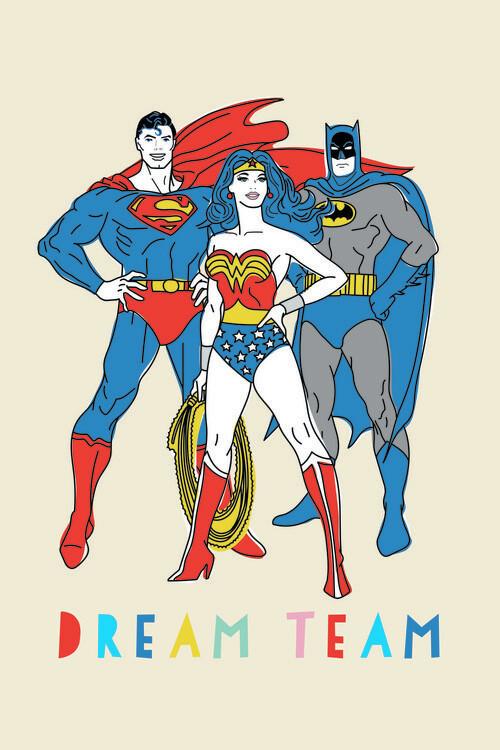Murais de parede Justice League - Dream Team