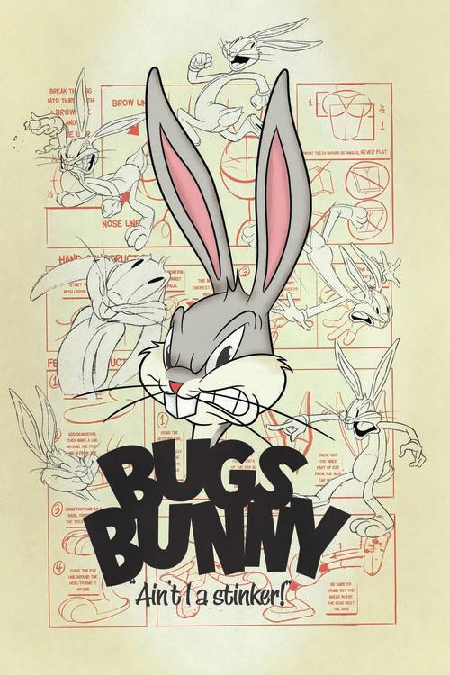 Murais de parede Looney Tunes - Bugs Bunny