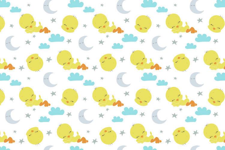Murais de parede Looney Tunes - Sleeping Tweety