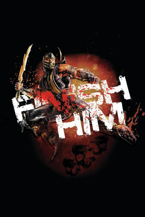 Murais de parede Mortal Kombat - Finish him