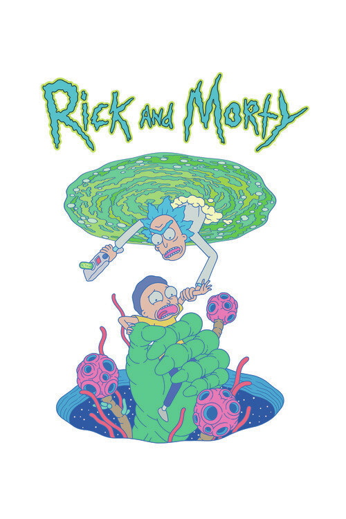 Murais de parede Rick & Morty - Me salve