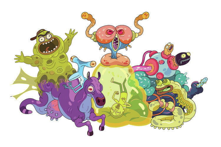 Murais de parede Rick & Morty - Monsters