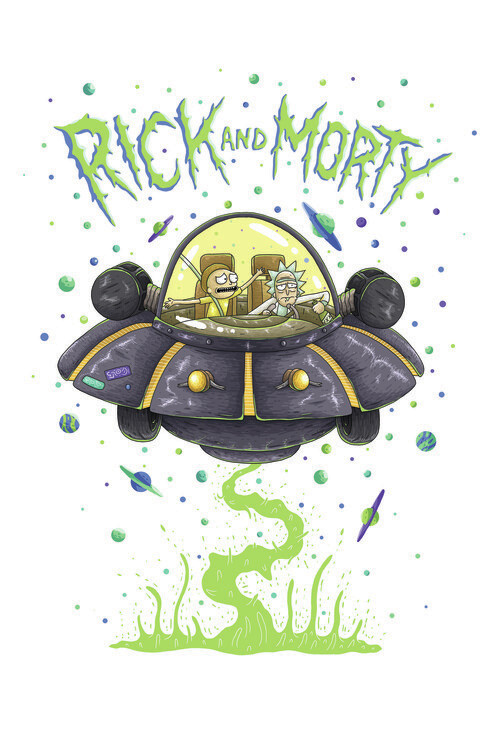 Murais de parede Rick & Morty - Nave espacial