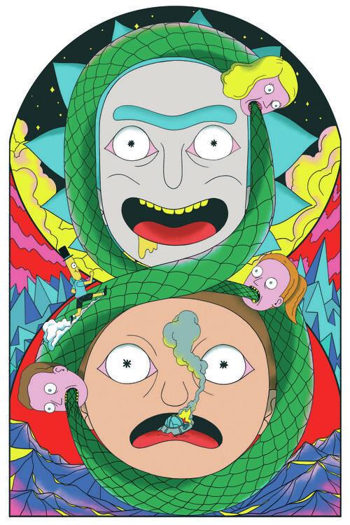 Murais de parede Rick & Morty - Never ending