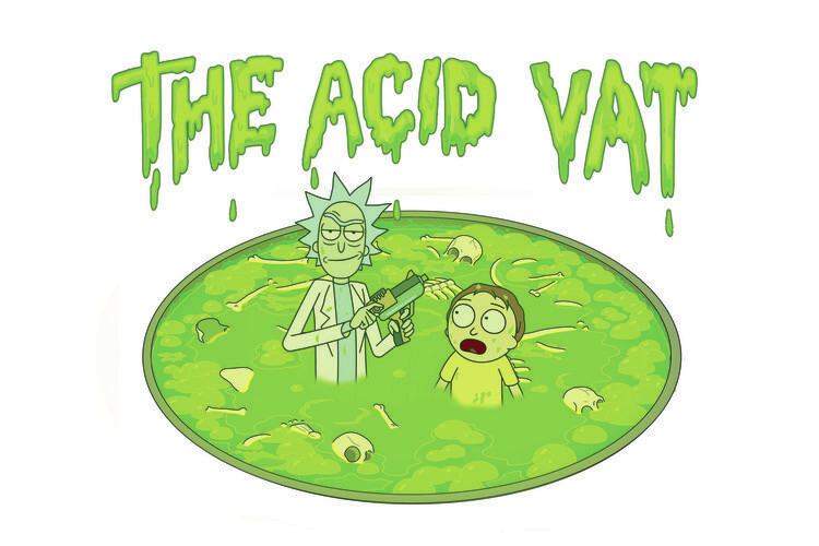 Murais de parede Rick & Morty - The acid vat