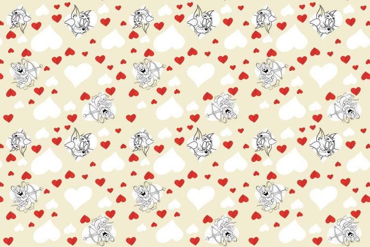 Murais de parede Tom a Jery - Valentine's day