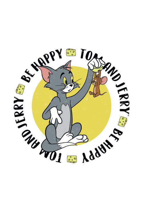 Murais de parede Tom& Jerry - Be Happy