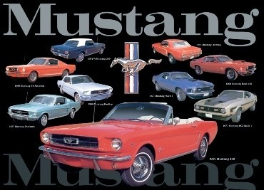 MUSTANG COLLAGE Panneau Mural