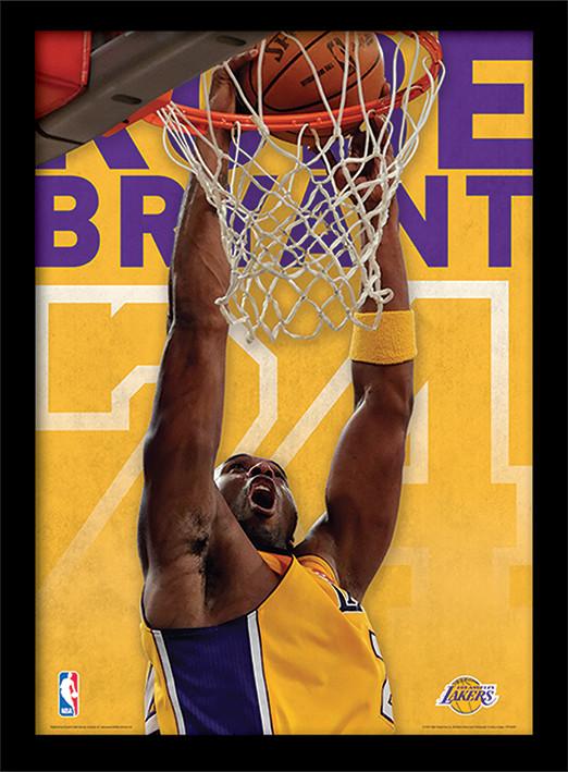 NBA - Kobe Bryant Poster encadré en verre