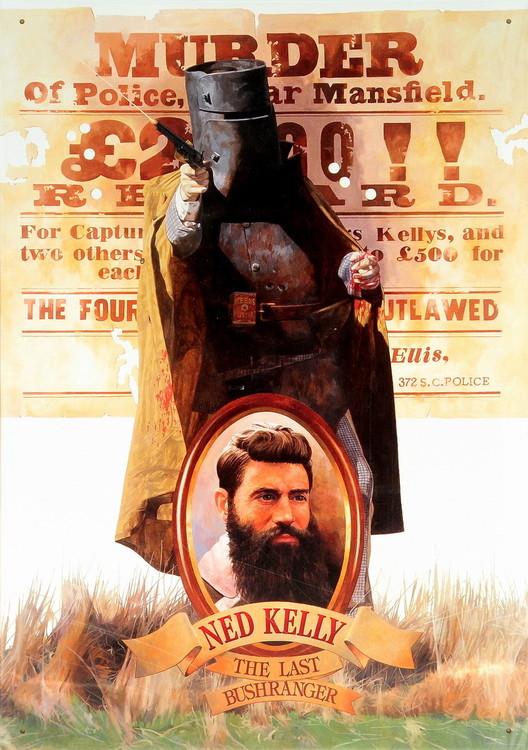 NED KELLY Plaque métal décorée
