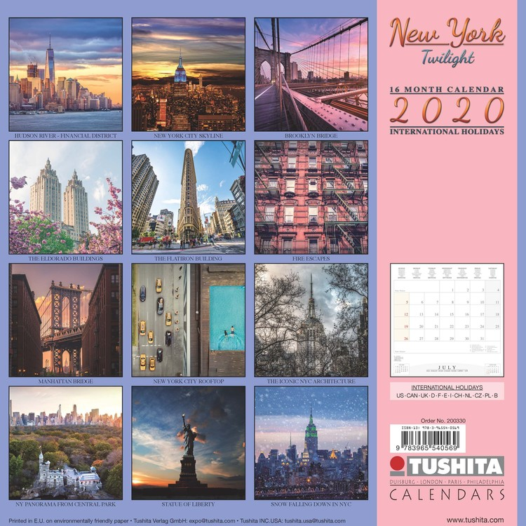 New York Calendar 2021 New York   Wall Calendars | Large selection