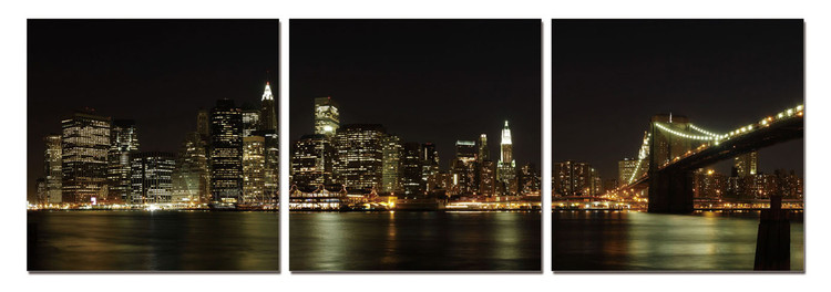 New York - Manhattan Skyline Tableau Multi-Toiles