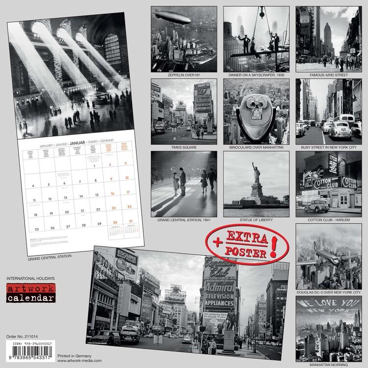 Calendar 2021 New York Retro