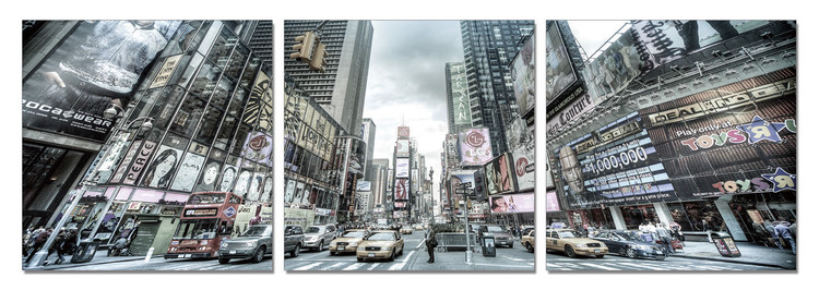 New York - Times Square Tableau Multi-Toiles
