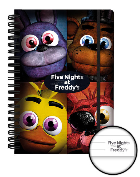 five nights at freddys quad notebooks buy at abposters com eu