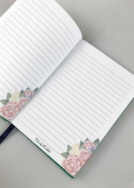 Notebook Frida Kahlo - Green Vogue