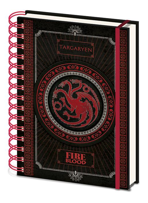 Game Of Thrones - Targaryen Notebook