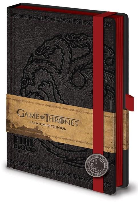 Game of Thrones - Targaryen Premium A5 Notebook Notebooks
