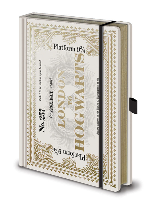 Notebook Harry Potter - Hogwarts Express Ticket Premium