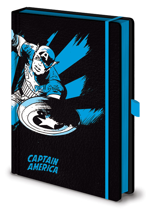 Marvel Retro - Captain America Mono Premium Notebook