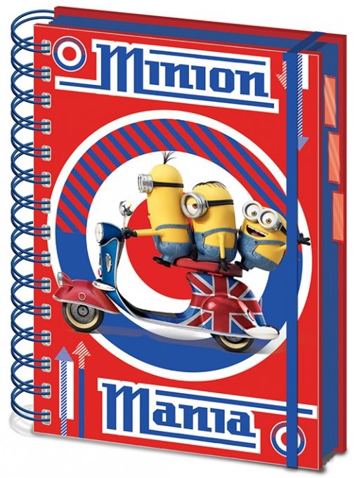 Minions - British Mod Red A5 Project Book Notebook