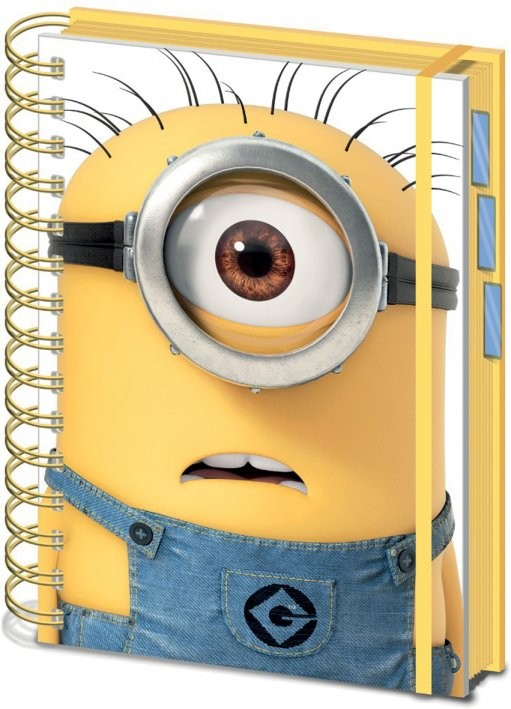 Minions (Despicable Me) - Shocked Minion A5 Notebooks