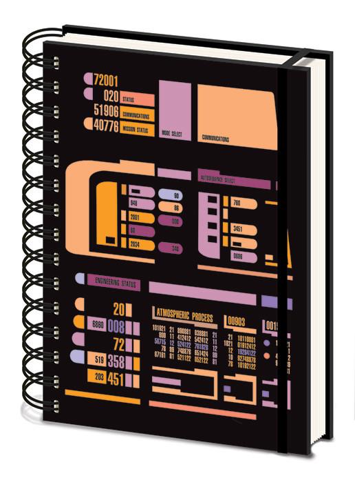 Notebook Star Trek TNG - Control Panel
