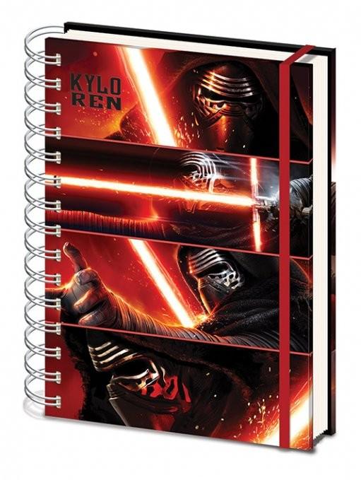Star Wars Episode VII: The Force Awakens - Kylo Ren Panels A4 Notebook Notebooks