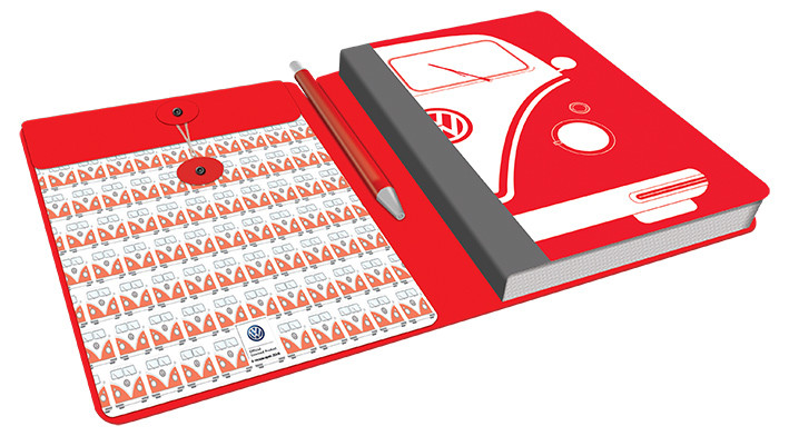 Volkswagen - Red Camper Notebook