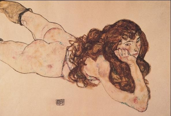 Nude, 1917 Reproduction d'art