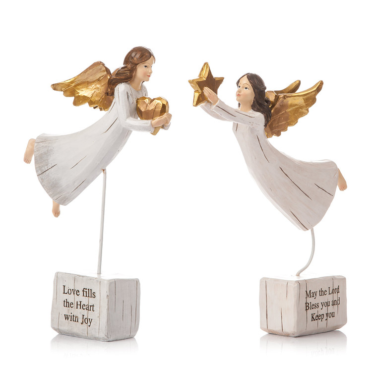 Angel Gold Flying, 2 Types, 25 cm Objectos Decorativos