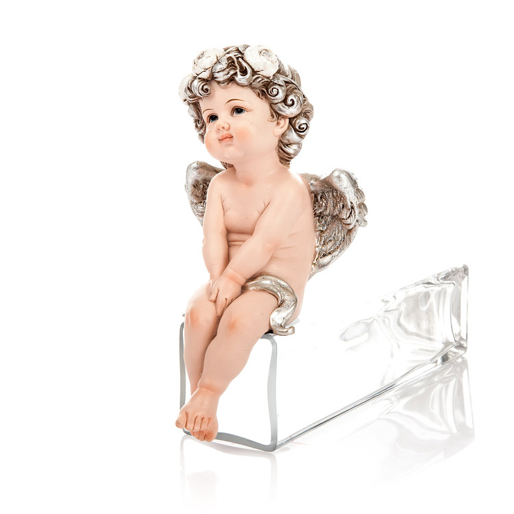 Angel Romantic Sitting, 17 cm Objectos Decorativos