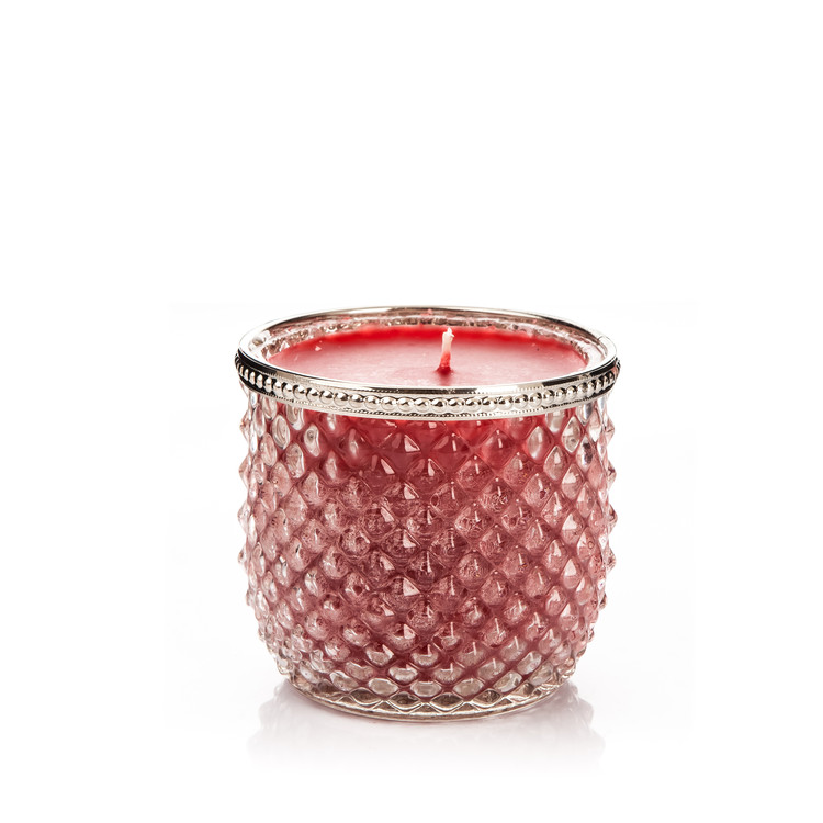 Candle in Glass-Cranberry+Cinnamon, Red Wide 9x Objectos Decorativos