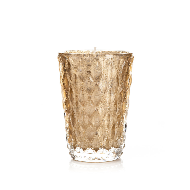 Candle in Glass Metal - Vanilla, Gold 10x13cm Objectos Decorativos