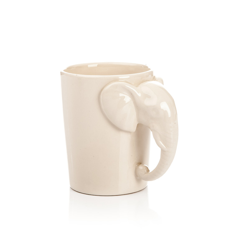 Mug with Elephant Head Handle, 300 ml Objectos Decorativos