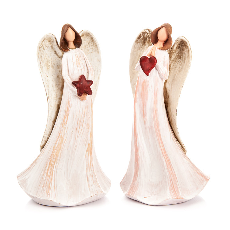 White Angel Polyresin 20 cm, 2 Types Objectos Decorativos