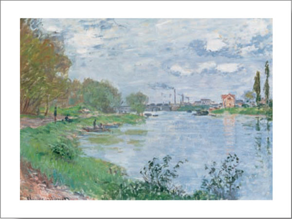 On the Bank of the Seine Reproduction d'art