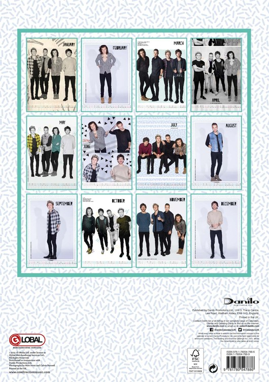 Images of 2021 One Direction Calendar