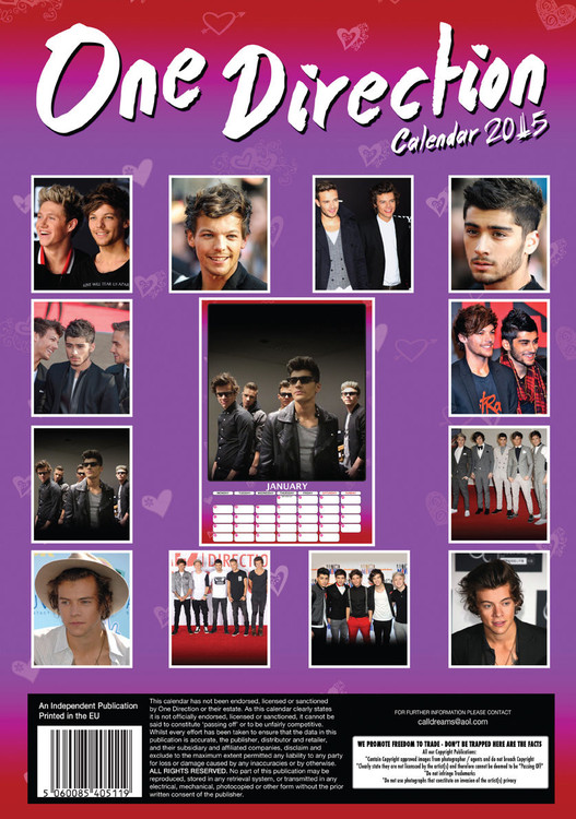 2021 One Direction Calendar Background