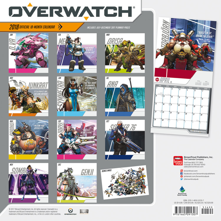 Overwatch   Wall Calendars | Large selection