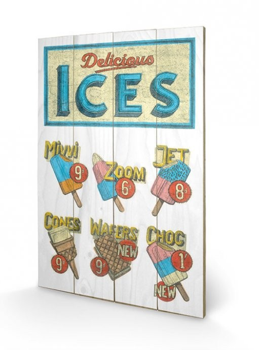 BARRY GOODMAN - delicious ices Panneaux en Bois