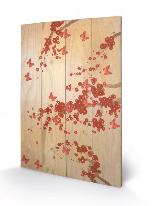 Lily Greenwood - Butterflies & Blossoms Panneaux en Bois